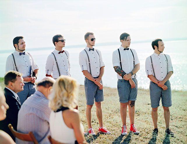 современная свадьба, друзья жениха
