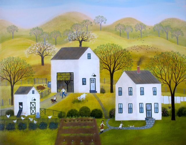 The Family Farm  18x20  acrylic on canvas