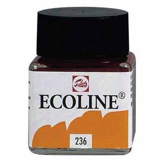 in plaats van gewone inkt mocht je af en toe schrijven met ecoline en je kroontjespen