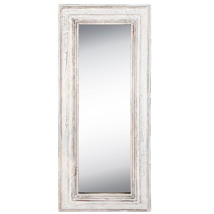 Antique White Wood Leaner Mirror Leaner Mirror White Wood Mirror