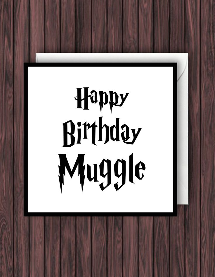 Happy Birthday Muggle. Harry Potter Birthday, Greeting, Blank Card by TheDandyLionDesigns on Etsy