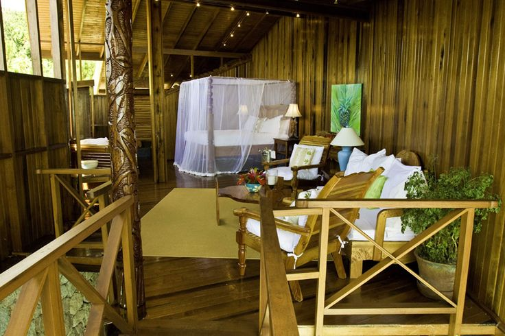 Ladera St. Lucia is an eco-luxe style resort that features tree house living!