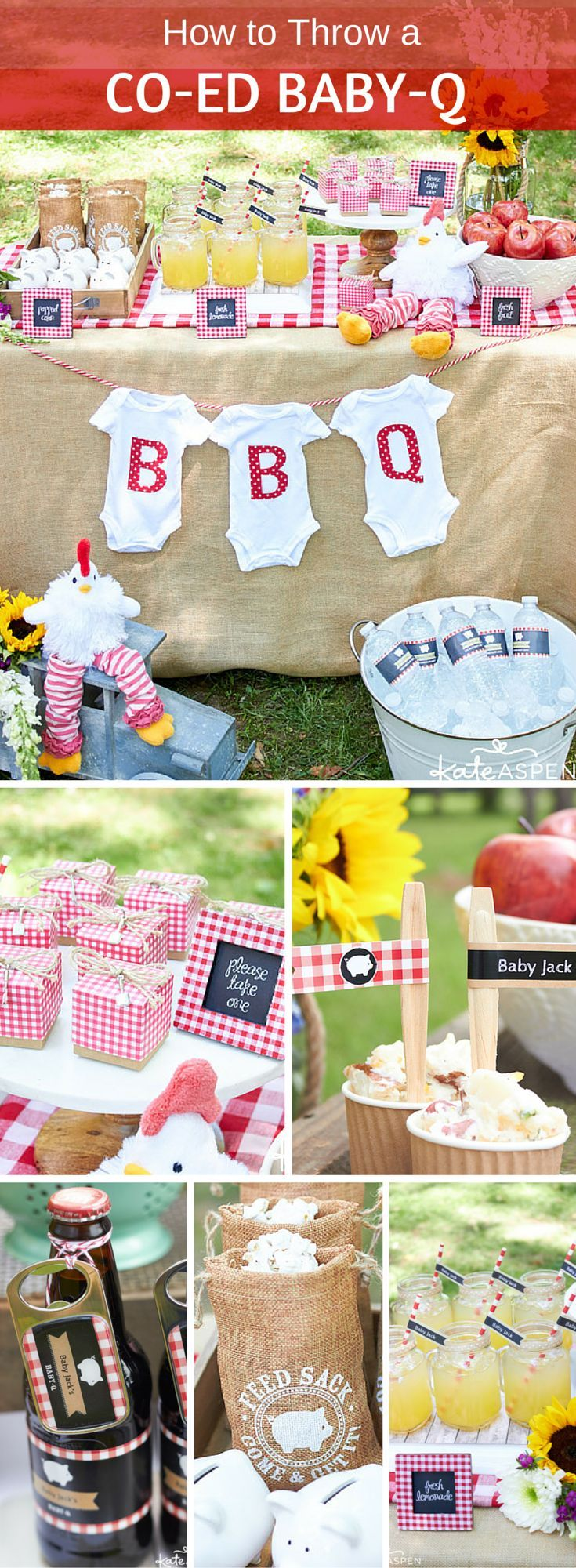 A Baby-Q is an adorable gender-neutral baby shower theme, and it's
