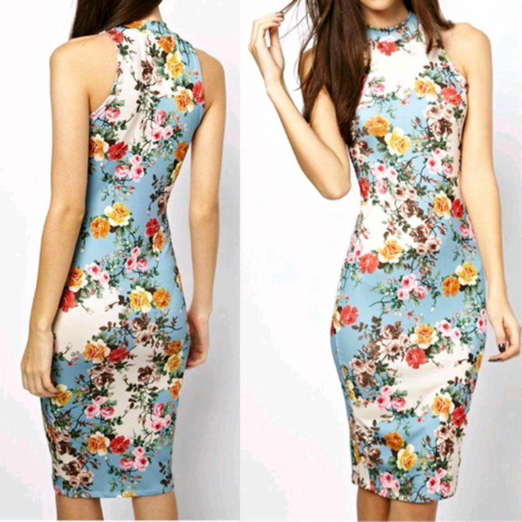 2014 Newest Chic Summer Vintage Floral Slim Cheong-sam Dress Party Gown Dress