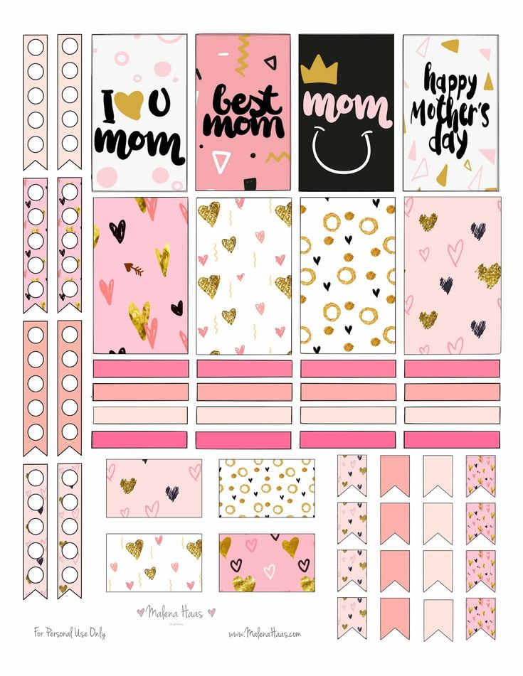 Free Mother's Day Stickers Printable Download
