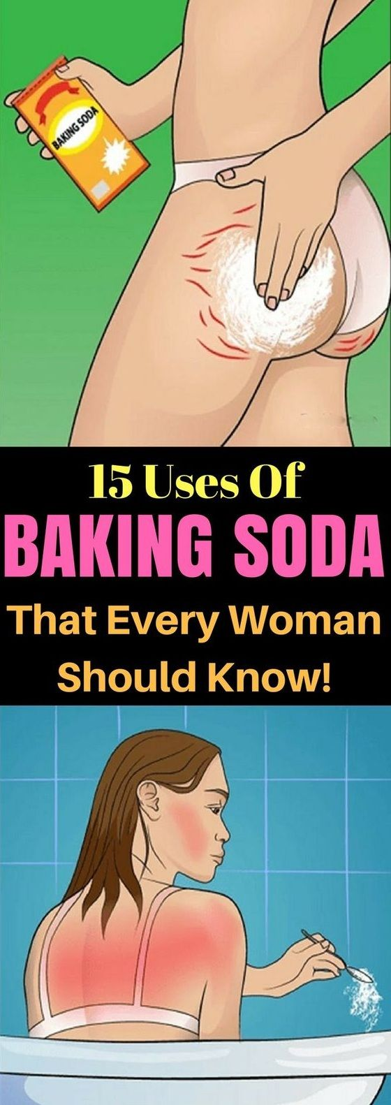 Start using baking soda in all corners of your home and for individual hygiene. You can use it also for cosmetic purposes. For instance, for your skin and hair, for struggling with stretch marks and whitening your teeth. Browse all techniques of its use: