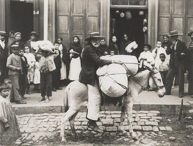 Valparaiso, vendedor callejero, imágenes de 1900
