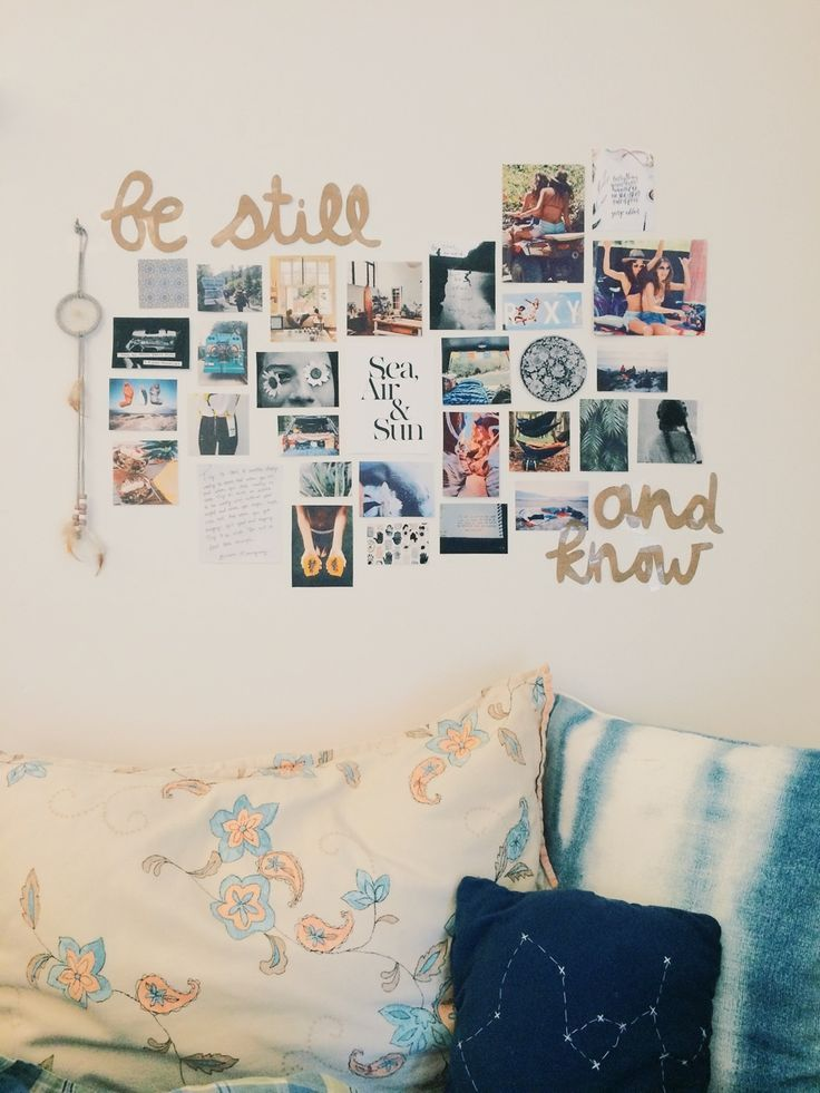 dorm dorm decor | 6 Simple Ways to Decorate Your Off-Campus Apartment | wall art | pictures | collage | college | photo wall | dorm