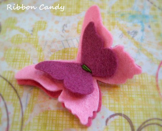 Wool Felt Butterfly Hair Clip