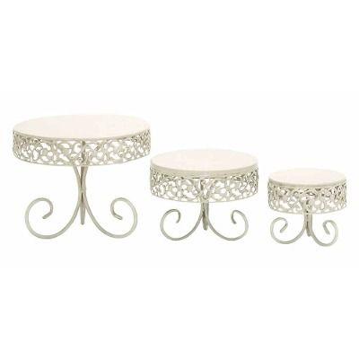 Set De Bases Para Pastel De Boda Cupcake Metal Elegante - $ 1,749.00