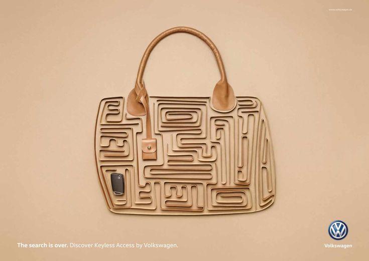 Volkswagen crée des prints brillants pour promouvoir sa « Keyless Access » #culturepub