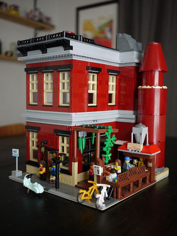 Lego MOC of a brewery inspired by