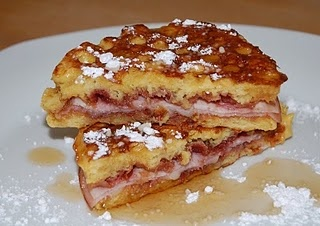 Monte Cristo Sandwich but on a corn jonny cake...Oh My!
