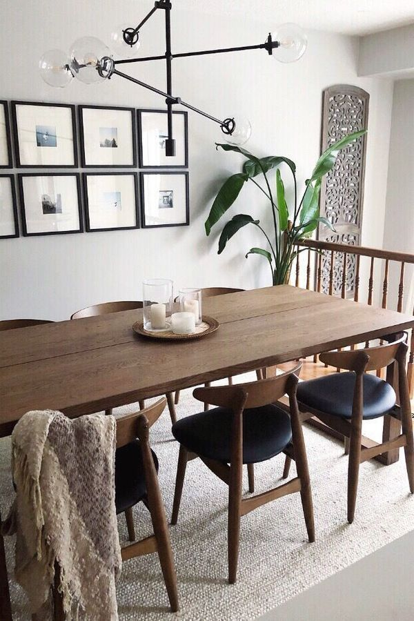 Table Chair Ikea Ikea Dining Table Furniture Interior Design In 2020 Mid Century Modern Dining Room Modern Dining