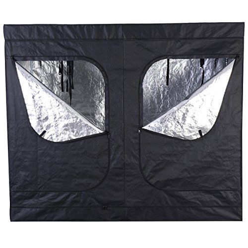 giantex indoor grow tent room reflective mylar hydroponic non toxic clone hut 6 size 96x48x78