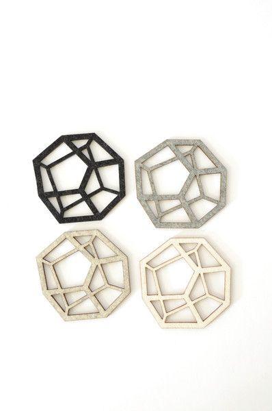 Pentahedron Coasters