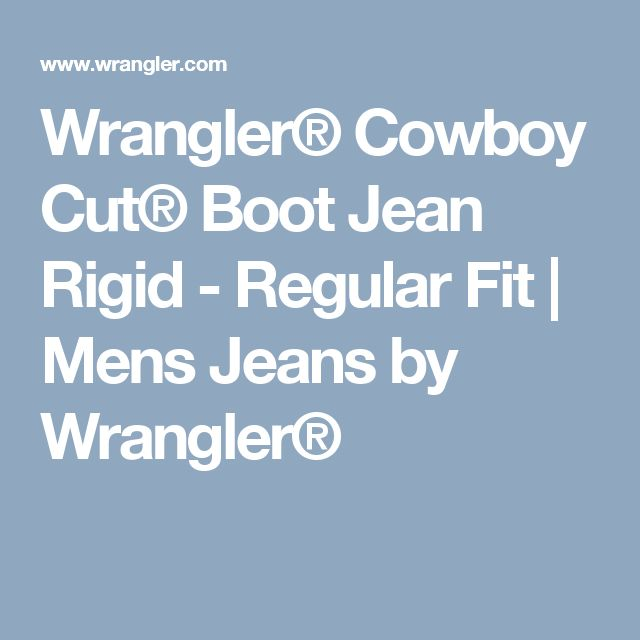 Wrangler® Cowboy Cut® Boot Jean Rigid - Regular Fit | Mens Jeans by Wrangler®