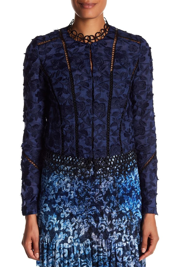 Elie Tahari - Leanne Embroidered Jacket is now 60% off. Free Shipping on orders over $100.