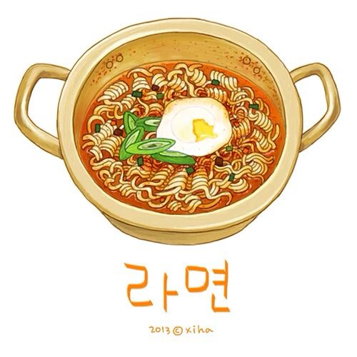 라면 Food Illustration