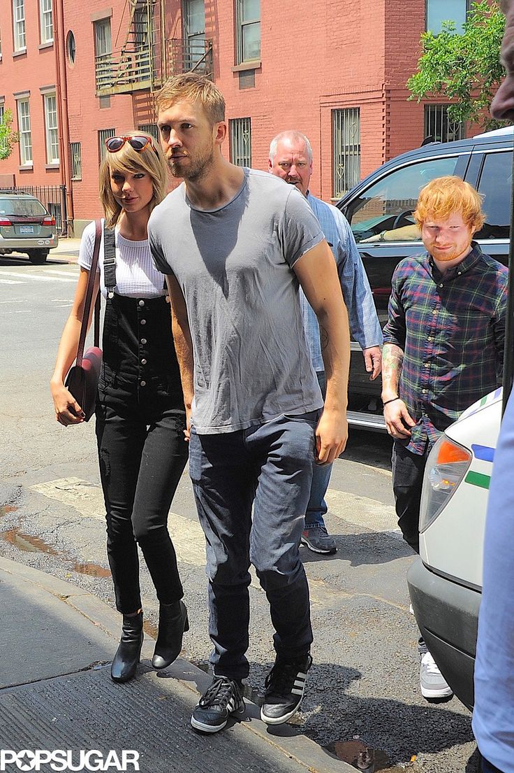 Ed Sheeran Totally Third-Wheeled Taylor Swift and Calvin Harris's Lunch Date