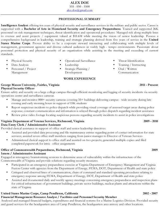 resume examples veterans    examples  resume