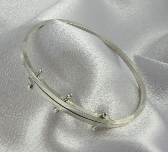 Sterling Silver Modern Bangle Bracelet Minimalist Style Jewelry Design  High Quality 925 Silver on Etsy, $103.38 CAD