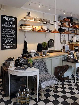 Cocinas en blanco y negro v: Interior Design, Kitchens, Ideas, Floor, Tile, Bakery Pastry Café Shops, Cafe, Shops Interior
