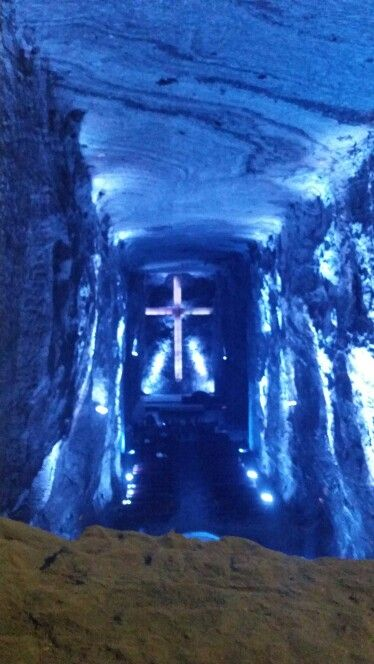 Salt Cathedral in Zipaquira, Colombia. The world biggest one underground. Amazing experience,  great work. Salt mines.
