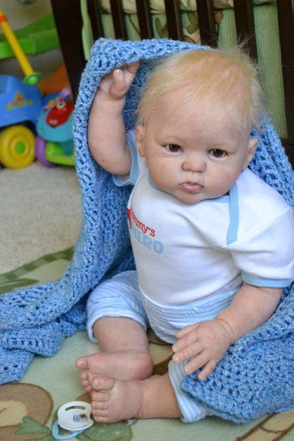 "OOAK Reborn 26"" Toddler Boy baby Cody doll original art newborn   9Month old"