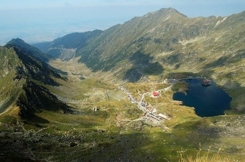 Balea Lake is a glacial lake located at 2034 m altitude in Fagaras Mountains - ROMANIA.