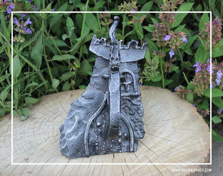 Hunted castle door knocker by DruidsGreenForge on Etsy