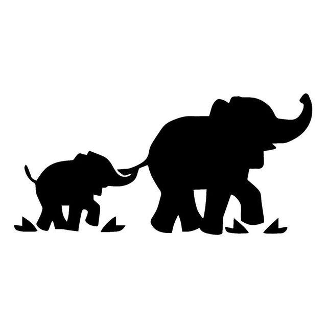 16.5*7.9 СМ Слон С Детские Автомобильные Наклейки И Наклейка Творческий Автомобиля Стайлинг Аксессуары Черный/Серебристый S1-2771