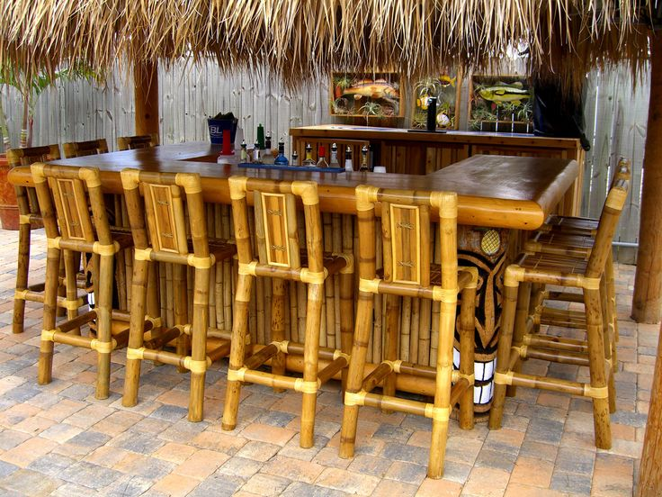 15 best images about tiki hut backyard ideas on pinterest curtains outdoor curtains and signs - Bamboo bar design ideas ...