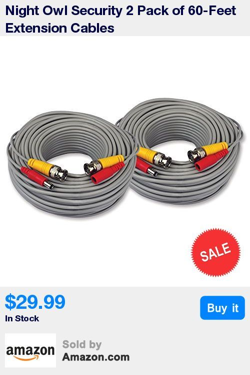 24 American Wire Gauge Standard Cable * Weatherproof Cable Allows for Use Indoors and Outdoors * 120 total ft. Video/Power Cable (60 ft. per cable) * Compatible with all Night Owl Analog DVR Systems * Used for Cameras with No Audio