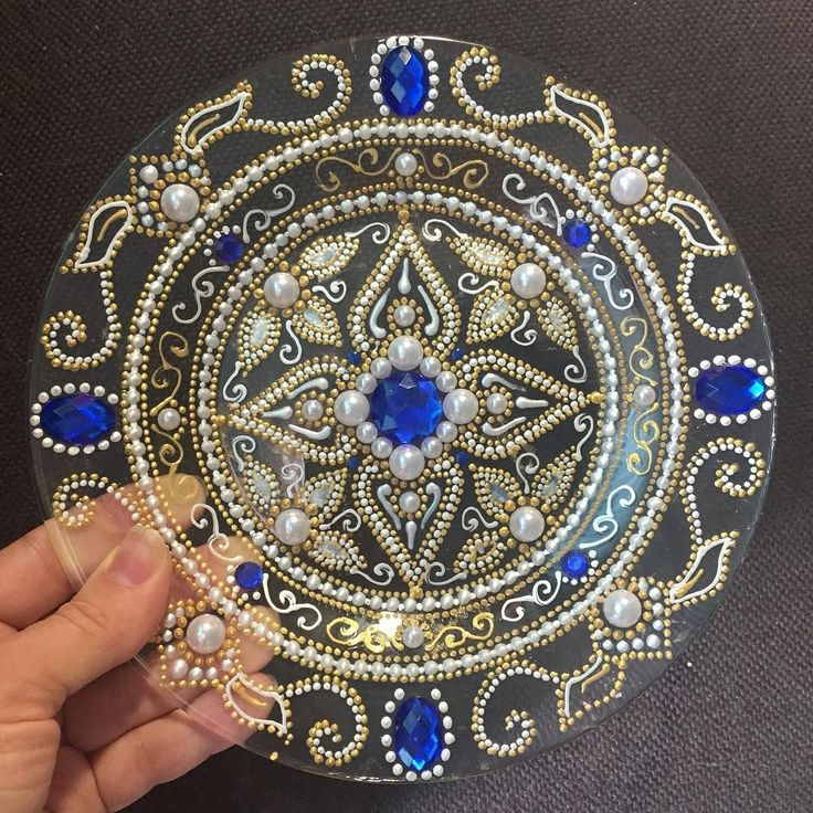 / bejeweled decorative plate /