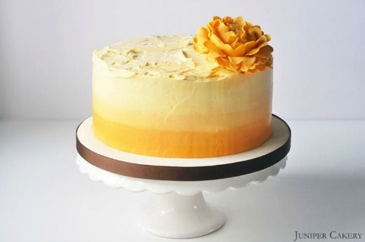Another yummy cake creation from Juniper Cakery! Make this delicious lemon, lime and passionfruit cake with ombré buttercream with our handy how-to tutorial: http://thehappyegg.co.uk/juniper-cakery-julys-lemon-lime-passion-fruit-cake/