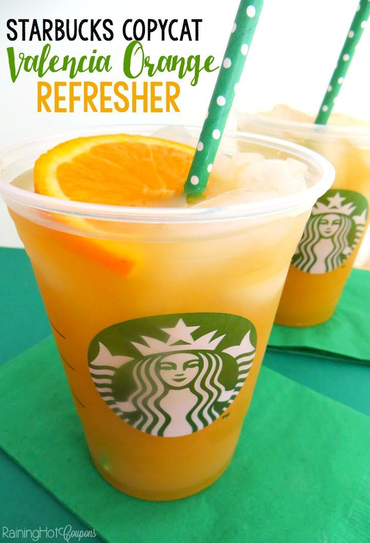 Starbucks Copycat Valencia Orange Refresher - Here's a delicious drink recipe that is refreshing, sweet and easy to make!