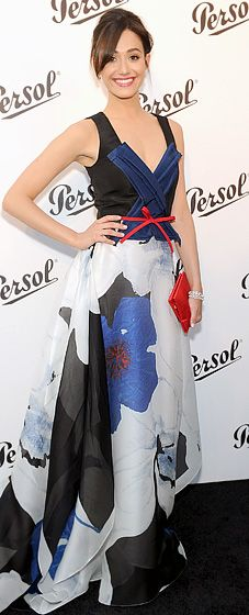 Emily Rossum in Carolina Herrera