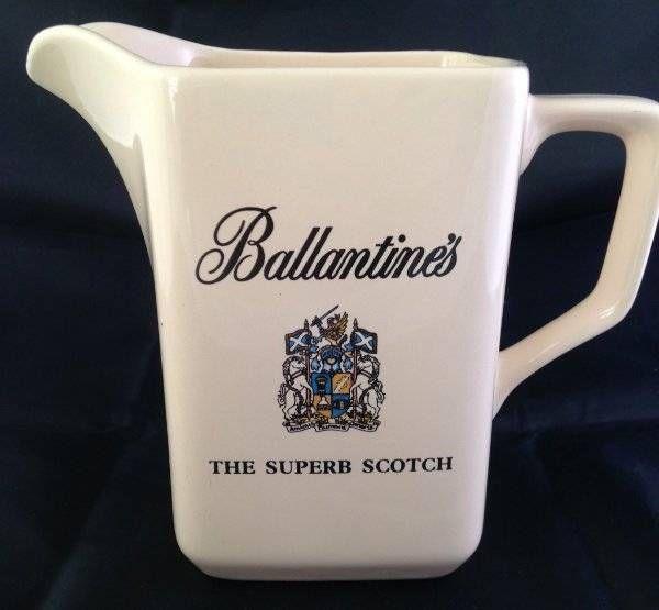 Ballantines Superb Scotch Whisky Water Jug Wade Pottery Bar Brewery Pub Advert