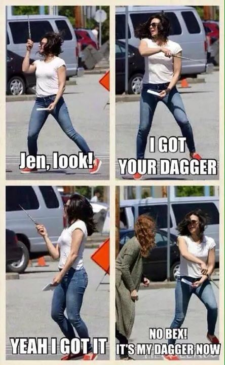Awesome Lana (Regina) Lana and Rebecca (Bex) (Regina and Zelena) #Once #BTS the awesome Once S5 premiere E1 #DarkSwan #Steveston Village #Richmond Vancouver BC Friday 7-17-15