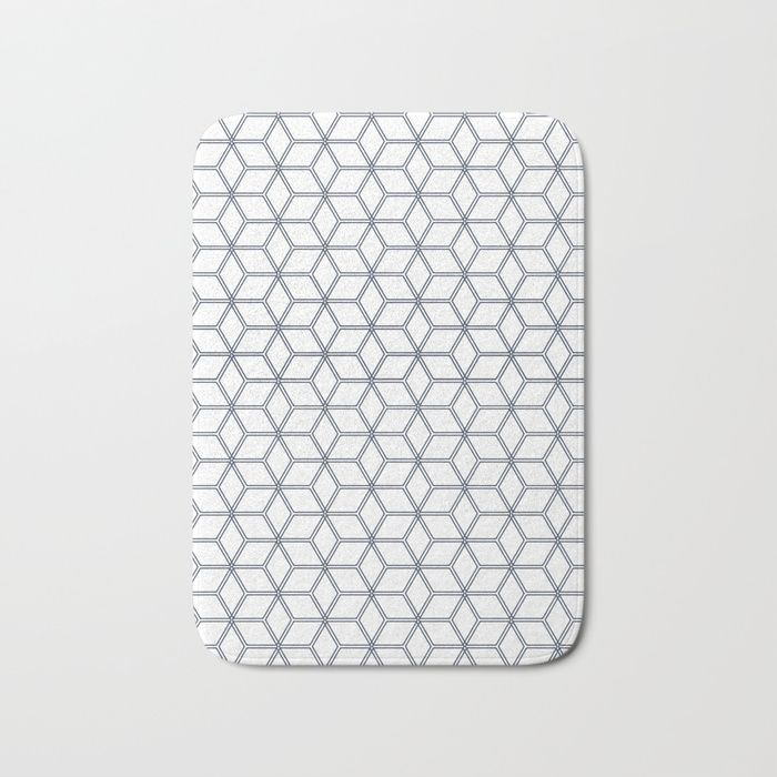 Hive Mind Navy 371 Bath Mat By Natural Collective Co