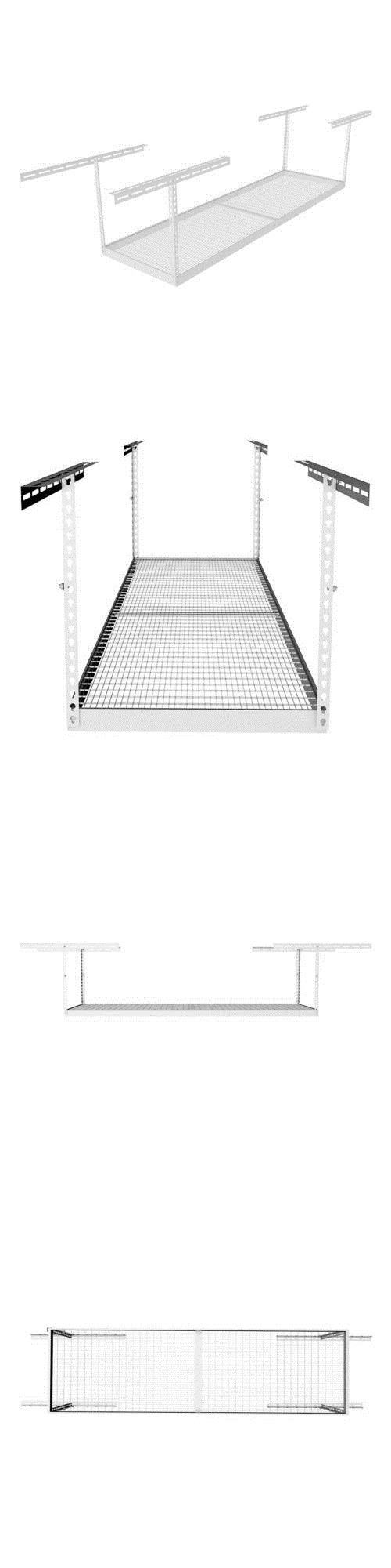Other Home Organization 20621: Monsterrax 3 X8 Overhead Storage Rack 18 To 33 Drop - White -> BUY IT NOW ONLY: $139.95 on eBay!