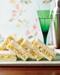 Curried-Egg Tea Sandwiches - looks simple. I might serve it wrapped in lettuce leaves. Freshly-prepared Madras is yummy.