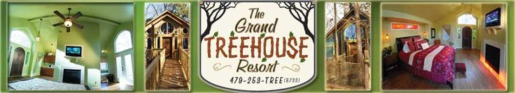 This resort is in Arkansas near a lake!!1 So many treehouses to choose from for a family vacation!