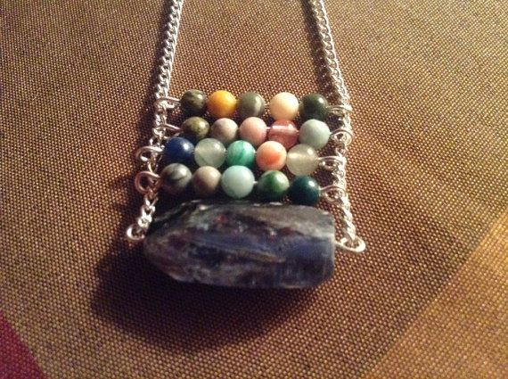 Kyanite, Gemstone, Necklaces, Jewelry Trends 2014, St. Patricks Day Sale on Etsy, $30.00