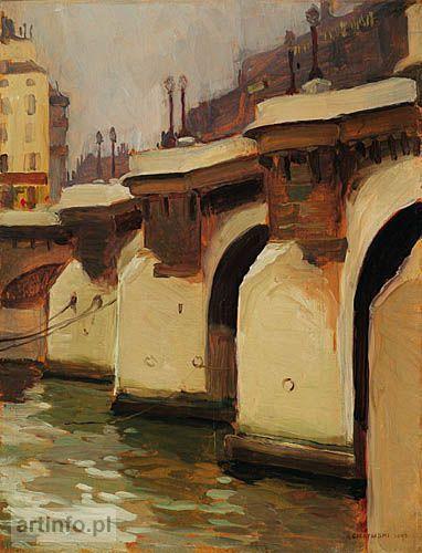 Aleksander Gierymski, view of Pont Neuf, Paris on ArtStack #aleksander-gierymski #art