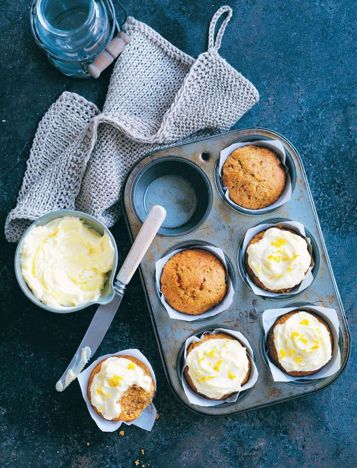 Pumpkin and walnut cupcakes by Louise Fulton Keats from Something for Everyone | Cooked