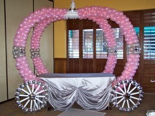 princess party balloon decorations | ... - Category: Balloon Decorations Chicago - Image: Princess Carriage