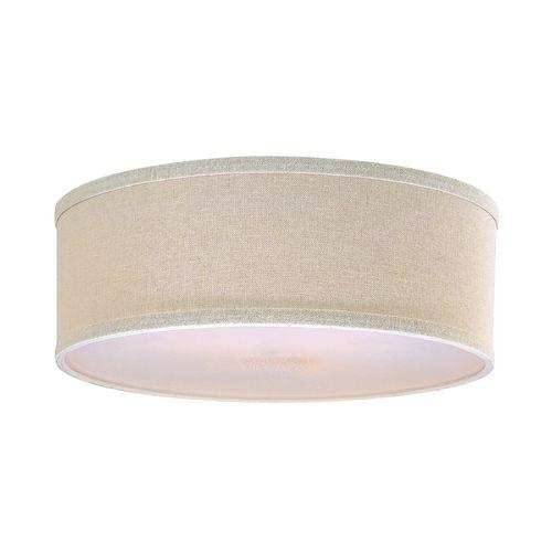 Design Classics Lighting Drum Lamp Shade In Cream Linen | SH7485DIF |  Destination Lighting