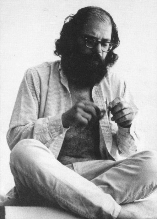 """Our heads are round so thought can change direction."" Allen Ginsberg, uncredited photo"